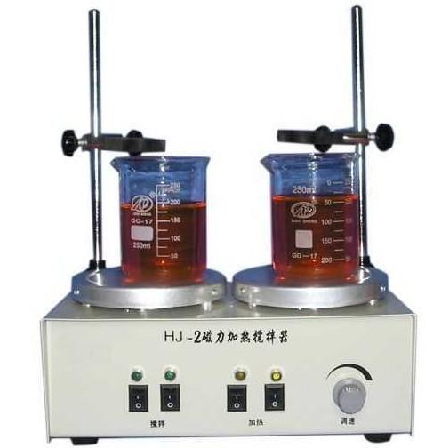 二连磁力加热搅拌器